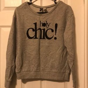 Divided Sweaters - Gray Holy Chic Sweatshirt